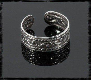 OBRĄCZKA NA PALCE U STÓP srebrna