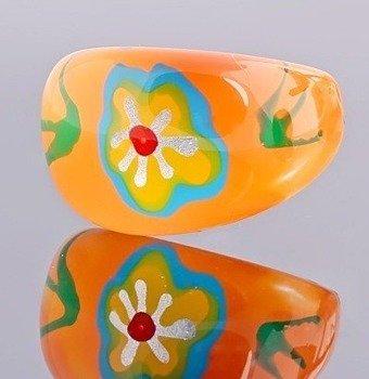 pierścień FLORAL pomarańczowy