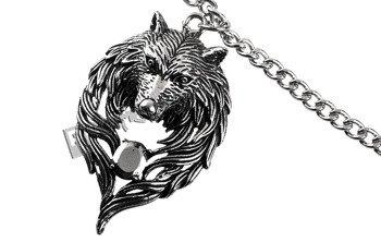 wisior + łańcuszek WOLF