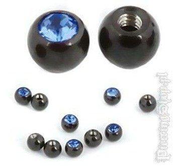 NAKRĘTKA KULKA BLACK LINE oczko niebieskie śr. 5mm gwint 1,6mm [BKJB]