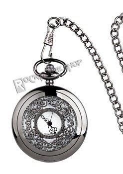 zegarek + łańcuszek VINTAGE STEAMPUNK BLACK